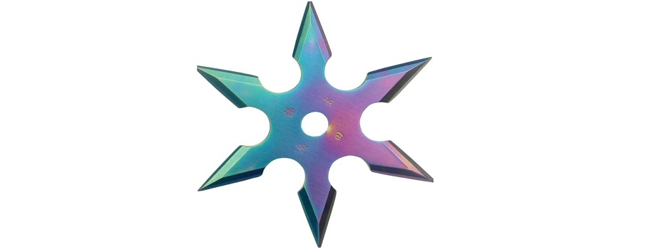 Ninja Rainbow Throwing Star