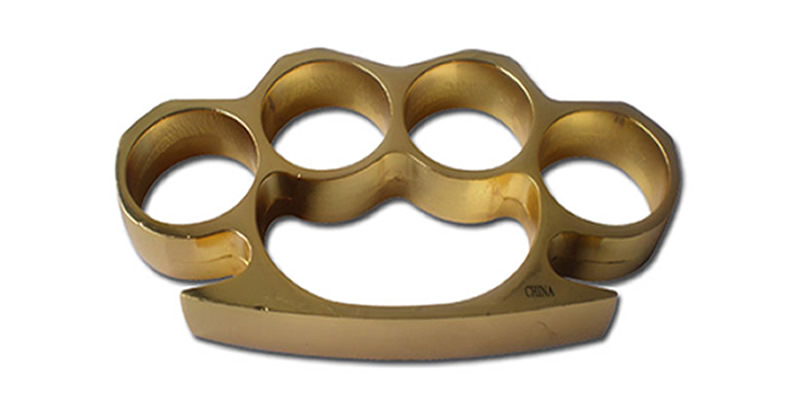 Brass knuckle gold
