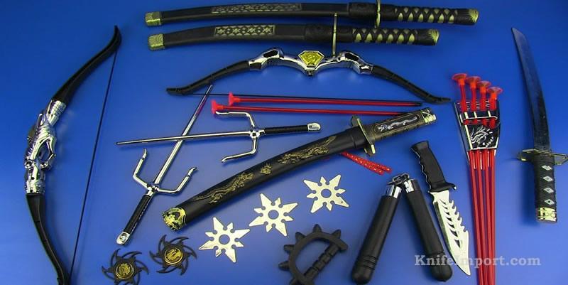 Azure Edge Ninja Sword - Blue Blade Ninjas Katana - Black ...  |Types Of Ninja Swords