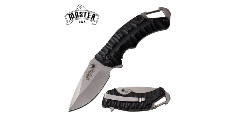 Spring Assisted Folding Pocket Knife Black