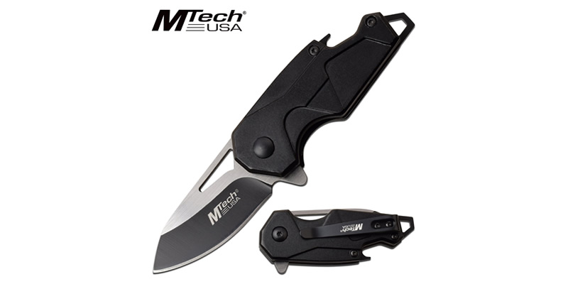 Spring Assisted Knife Black Handle