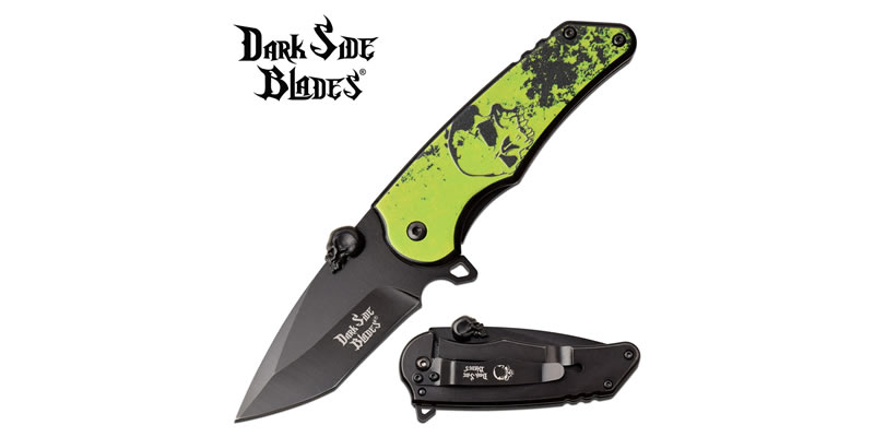 Green Skull EDC Pocket Knife