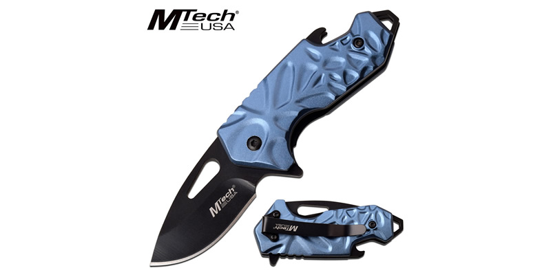 Spring Assisted Pocket Knife Blue