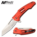 Everyday Carry Mtech Pocket Knife Spring Assisted Knife Red Handle