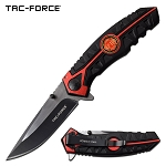 Tac Force Fire Department Pocket Knife Spring Assisted Knife