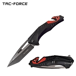 Tac Force Tactical Knife Spring Assisted Knife Red Black Pocket Knife