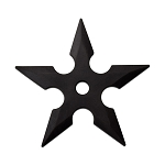 4.5 Inch Practice Molded Rubber Ninja Throwing Star 3 Piece Set