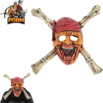 Undead Pirate Skull CrossBones Mask For Cosplay Halloween Masquerade