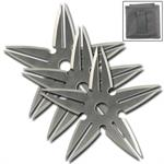 3 Piece Spinning Moon Throwing Stars - Silver 4 Inch Diameter