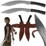 Alice's Fantasy Fixed Blade Kukri Regimental Fighting Knife 2 Piece Set