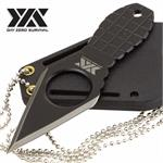 Day Zero Survival Fixed Blade Neck Knife Black Grenade Style Handle