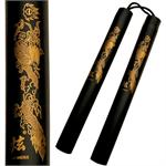 Nunchaku - Corded 12 Inch Black Foam Padded