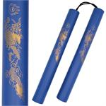 Nunchaku - Corded 12 Inch Blue Foam Padded