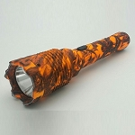 Special Force Rechargeable Metal Stun Gun Orange Camo LED Flashlight