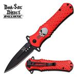 Dark Side Blades Punisher Spring Action Assist Folding Knife - Red