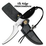 Elk Ridge Professional 7.8 Inch Hunting Skinning Knife - Black G10 Handle