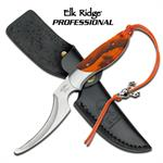 Elk Ridge Professional 7.8 Inch Hunting Skinning Knife - Orange Camo Handle