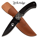 8 Inch Fixed Blade Hunting Knife Black Pakkawood Handle
