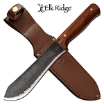 11.6 Inch Fixed Blade Hunting Knife with Cherry Wood Handle