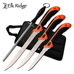 Fillet Knife Set 3 Piece with Sharpening Rod and Nylon Case