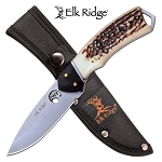 Hunting Knife Full Tang Fixed Blade Knife Jigged Bone Handle