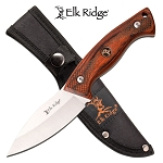 Hunting Knife Full Tang Fixed Blade Knife Brown Pakkawood Handle