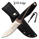 Elk Ridge Hunting Knife 8.75 Inch Fixed Blade Knife with Fire Starter