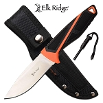 Elk Ridge Fixed Blade Hunting Knife with Survival Fire Starter