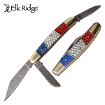 Elk Ridge Manual Folding Hunting Knife with Stockman Blade