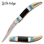 Elk Ridge Manual Folding Toothpick Blade Knife Mother of Pearl Handle