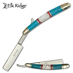 Elk Ridge Straight Razor Knife Stone Mother of Pearl