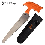 Elk Ridge Hunting Survival Outdoor Camping Fixed Blade Axe Orange Handle