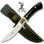 8.5 Inch Black Wood & Jig Bone Insert Handle Hunting Knife