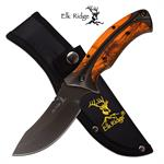 Elk Ridge 8.75 Inch Overall Fixed Blade Hunting Knife Orange Camo