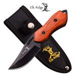 Elk Ridge 6 Inch Fixed Blade Hunting Knife Brown Pakka Wood