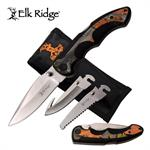 Elk Ridge Inter-changeable Blade Folding Pocket Knife Outdoor Camo