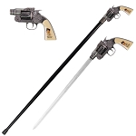 Billy the Kid Revolver Gun Handle Sword Cane