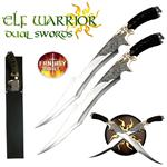 Elf Warrior Swords With Plaque