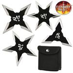 Fantasy Master 4 Piece Throwing Star Set with Pouch