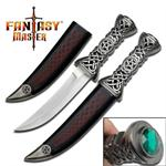 12 Inch Celtic Knife with Emerald Jewel on Pommel