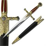 Mason Dagger Short Sword with Scabbard - Red