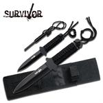 2 Piece Full Tang Fire Starter Hunting Knife - Fire Starter Flint