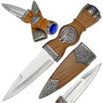 Scottish Dirk Dagger with Sheath - Brown