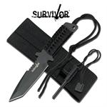 3MM Thick Tanto Blade Survival Hunting Knife - Fire Starter Kit