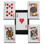 Royal Flush Throwing Cards - Hearts