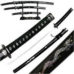 3 Piece Japanese Sword Set With Dragons Stand Included