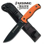 M-1021OR - Semper Fi 5MM Thick Blade US Marines Fixed Blade Knife