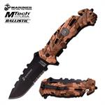 Marines MTech USA Spring  Assisted Knife Tactical Desert Digital Camo Handle