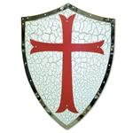24 Inch x 18 Inch Red Cross Templar Shield