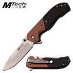 Pocket Knife Manual Folding 4.75 Inch Black Bronze Handle